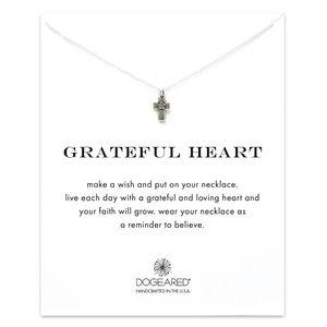 Dogeared Grateful Heart Necklace